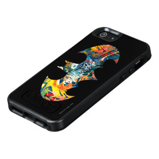 Batman Logo Neon/80s Graffiti OtterBox iPhone 5/5s/SE Case