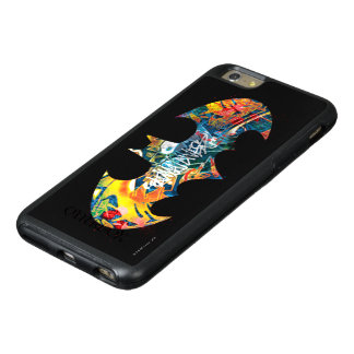 Batman Logo Neon/80s Graffiti OtterBox iPhone 6/6s Plus Case