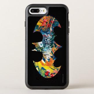 Batman Logo Neon/80s Graffiti OtterBox Symmetry iPhone 7 Plus Case