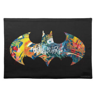 Batman Logo Neon/80s Graffiti Placemat