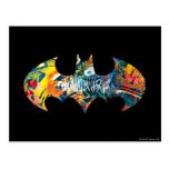 Batman Logo Neon/80s Graffiti Postcard
