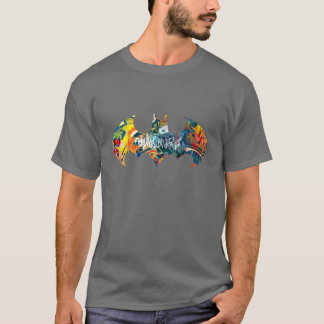 Batman Logo Neon/80s Graffiti T-Shirt