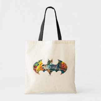 Batman Logo Neon/80s Graffiti Tote Bag