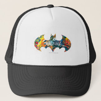 Batman Logo Neon/80s Graffiti Trucker Hat