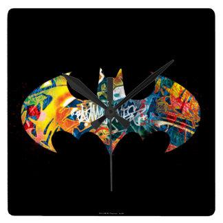 Batman Logo Neon/80s Graffiti Wallclocks