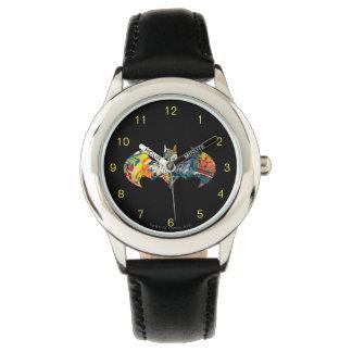 Batman Logo Neon/80s Graffiti Wristwatch