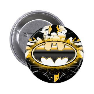 Batman Logo with Cars Button
