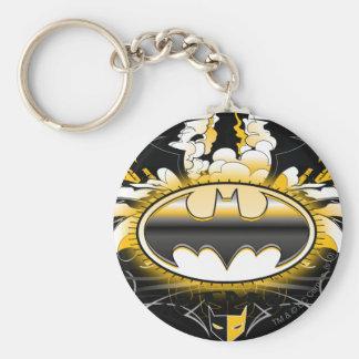 Batman Logo with Cars Key Ring