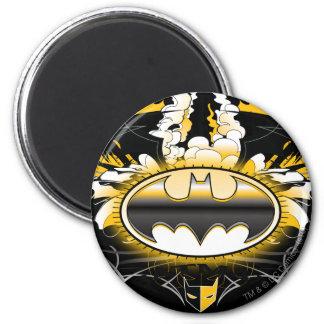 Batman Logo with Cars Refrigerator Magnet
