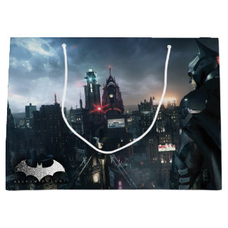 Batman Looking Over City Large Gift Bag