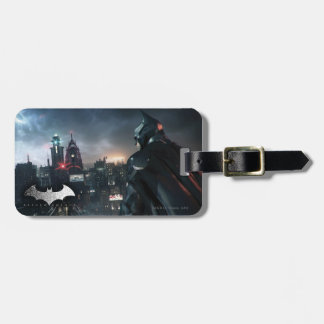 Batman Looking Over City Luggage Tag