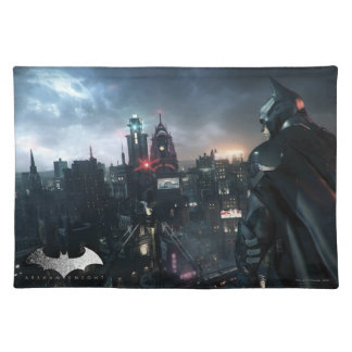 Batman Looking Over City Placemat