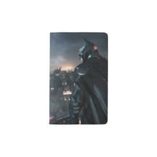 Batman Looking Over City Pocket Moleskine Notebook