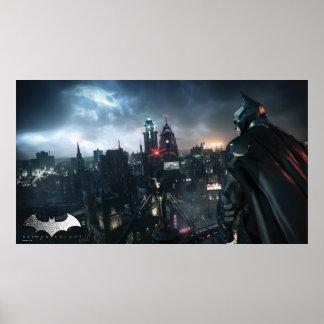 Batman Looking Over City Poster