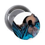 Batman - Masked Head from Below 6 Cm Round Badge