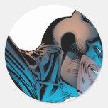 Batman - Masked Head from Below Round Stickers