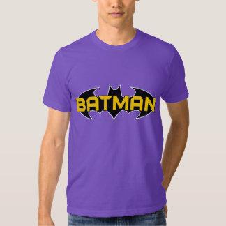 Batman Name Yellow and Black Background T Shirts