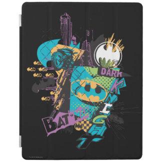Batman Neon The Dark Knight Collage iPad Cover