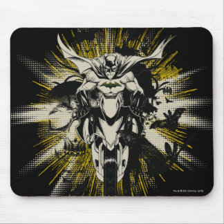 Batman on Bike Mouse Mat
