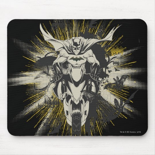 Batman on Bike Mouse Pad