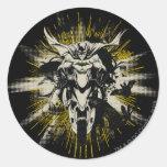 Batman on Bike Round Sticker