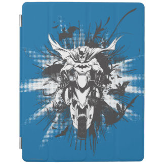 Batman on bike with bats iPad cover