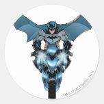 Batman on bike with cape sticker