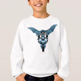 Batman on bike with cape sweatshirt