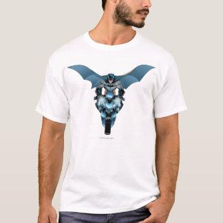 Batman on bike with cape T-Shirt