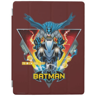 Batman on cycle with logo iPad cover