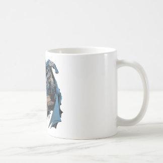 Batman on gargoyle basic white mug