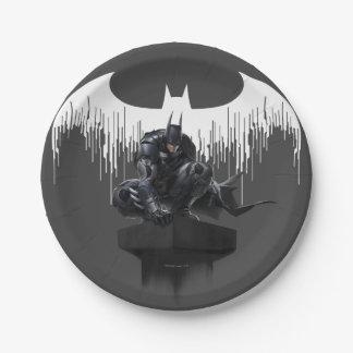 Batman Perched on a Pillar 7 Inch Paper Plate