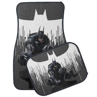 Batman Perched on a Pillar Car Mat
