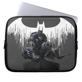 Batman Perched on a Pillar Laptop Sleeve