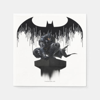 Batman Perched on a Pillar Paper Serviettes