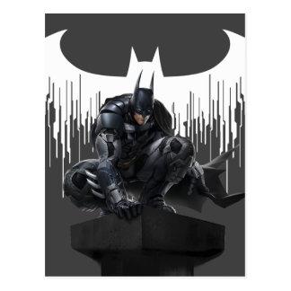 Batman Perched on a Pillar Postcard