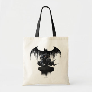 Batman Perched on a Pillar Tote Bag