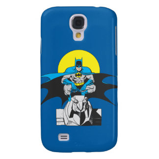 Batman Perches On Stone Lion Galaxy S4 Case