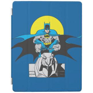 Batman Perches On Stone Lion iPad Cover