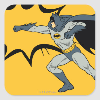 Batman Punch Square Sticker