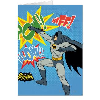 Batman Punching Graphic Greeting Card