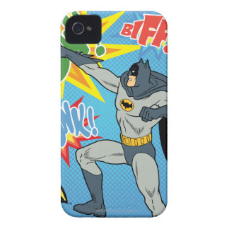 Batman Punching Graphic iPhone 4 Case-Mate Cases
