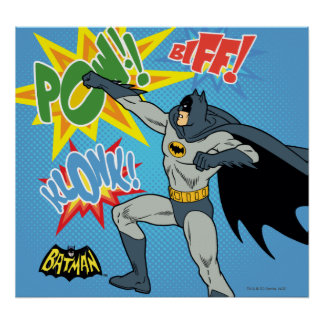 Batman Punching Graphic Poster