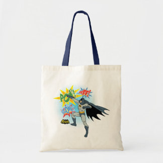 Batman Punching Graphic Tote Bag