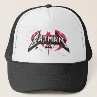 Batman   Red and Black Logo Trucker Hat