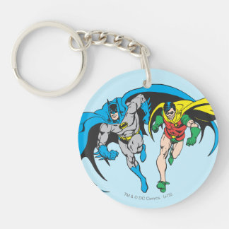 Batman & Robin Double-Sided Round Acrylic Key Ring