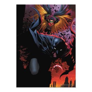 Batman & Robin Flight Over Gotham 13 Cm X 18 Cm Invitation Card