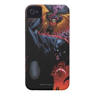 Batman & Robin Flight Over Gotham Case-Mate iPhone 4 Cases