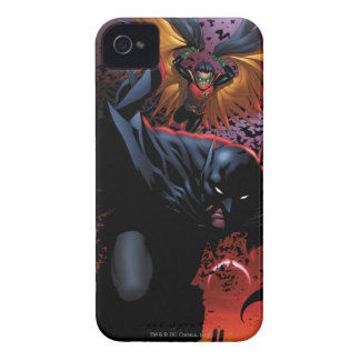 Batman & Robin Flight Over Gotham iPhone 4 Case-Mate Cases