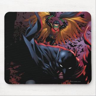Batman & Robin Flight Over Gotham Mouse Mat